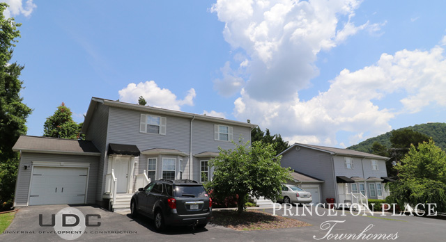 Princeton Place Townhomes are 2 bedroom townhomes with attached garages