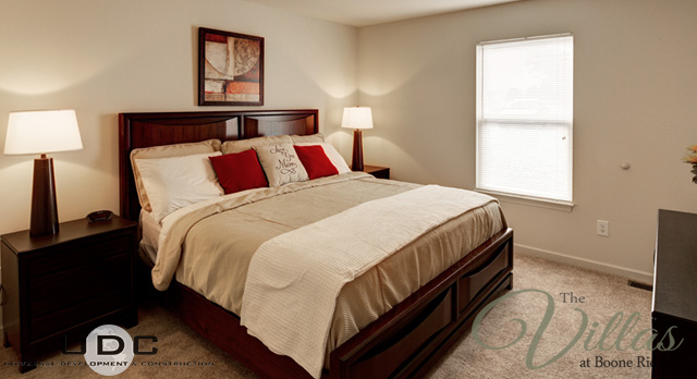 2 Bedroom master at the Villas at Boone Ridge in Johnson City Tennesse Apartment For Rent