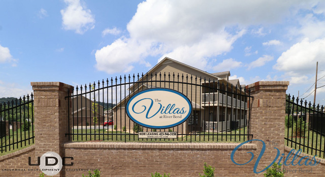 The Property Sign for The Villas at River Bend