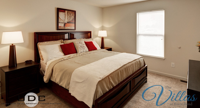 master bedroom in apartments for rent The Villas at River Bend Kingsport Tennessee