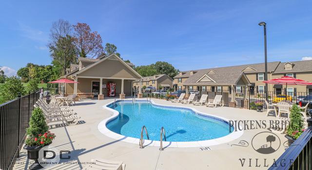 Resort style saltwater swimming pool