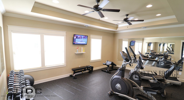 Our convenient fitness center is open 24/7