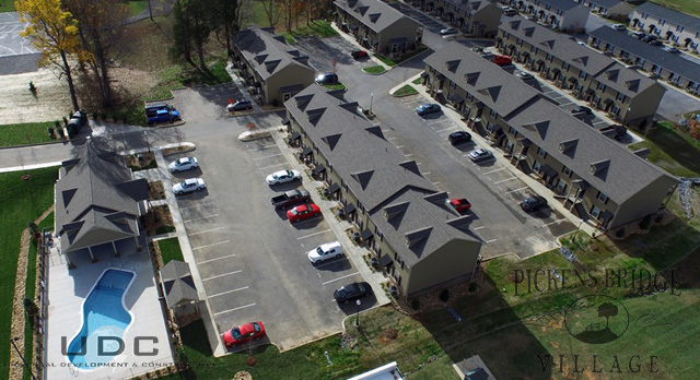 An Aerial view of pickens bridge village phases 1 and 2