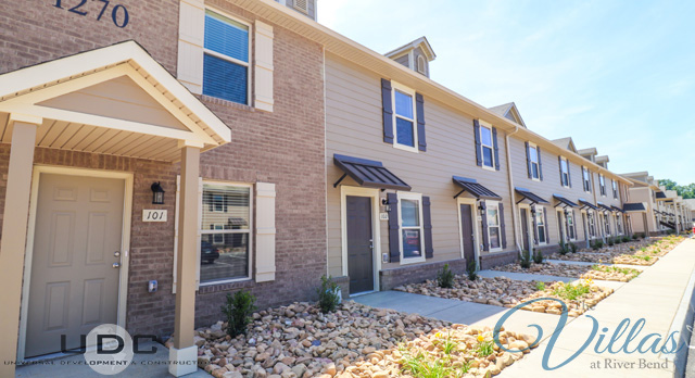 Our two bedroom townhomes with parking right in front of your door