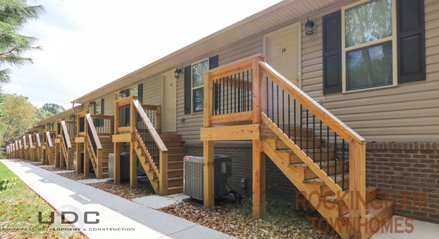 Rockingham Townhomes have 1 bedroom units with garages and private front entrances