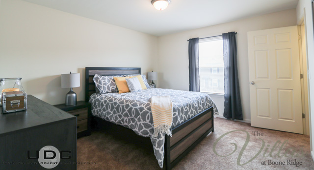 Spacious, comfy master bedrooms