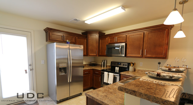 A view of the kitchen in our two bedroom townhome apartments for rent