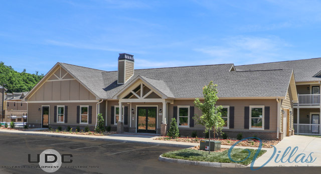 The clubhouse at The Villas at River Bend in Kingsport, TN. featuring a fitness and laundry center