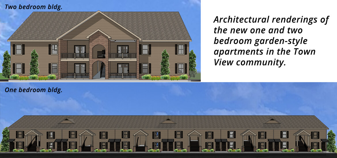 Town View Apartments in Elizabethton TN Building Rendering