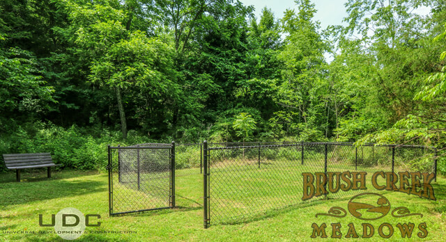The  dog park at brush creek meadows in Johnson City, TN