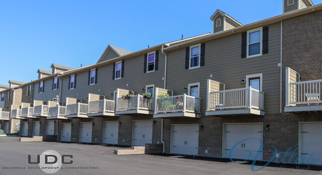 Two bedroom townhome apartments with garages at The villas at River Bend available for rent