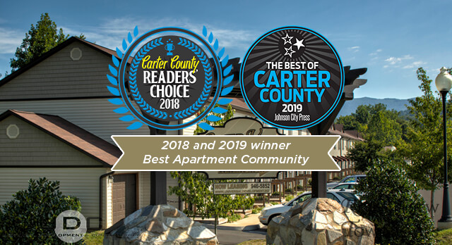 River View Townhomes in Elizabethton, TN Voted best apartment community in 2018 and 2019