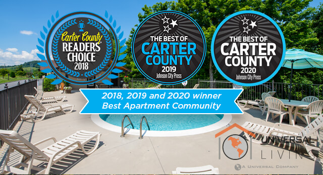 River View Townhomes in Elizabethton, TN Voted best apartment community in 2018, 2019 and 2020